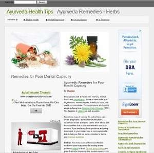 A blog in the Ayurveda niche