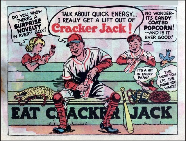 cracker jack ad from the 1950s