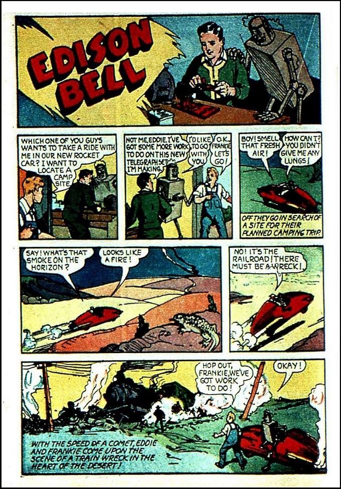 edison Bell 1940s comic story