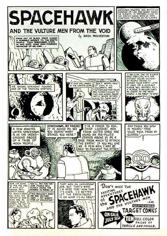 spacehawk comic book story ad