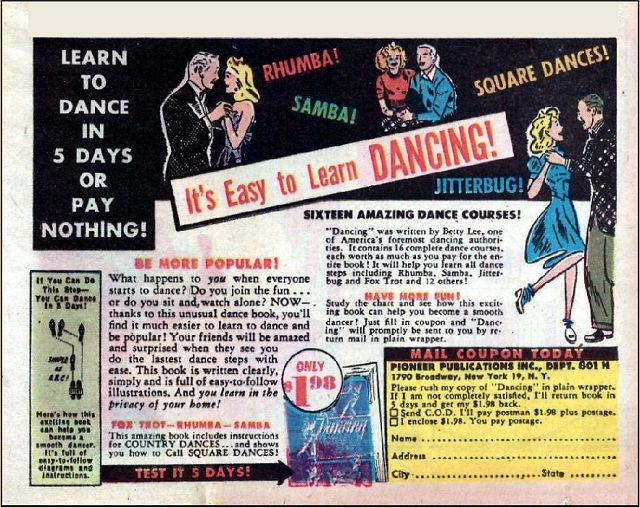 dance ad from the 50s
