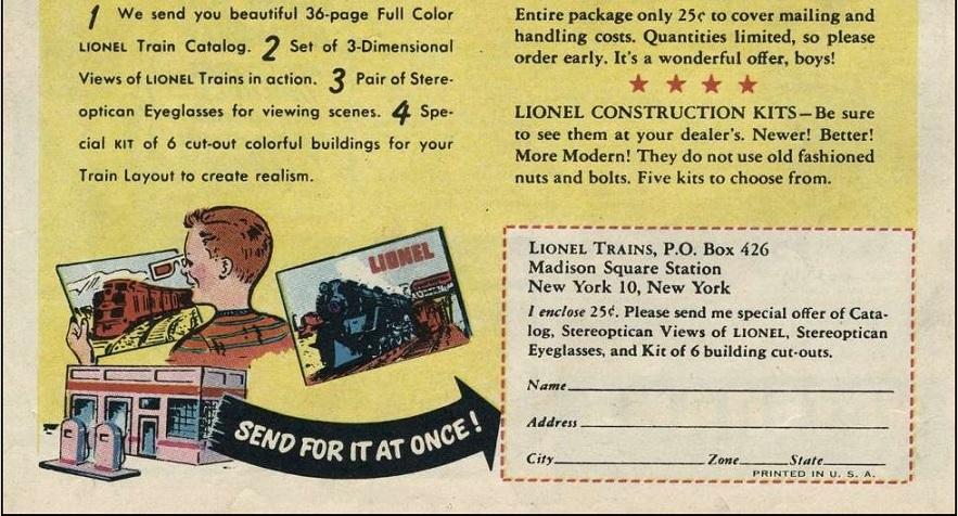 lionel train ad